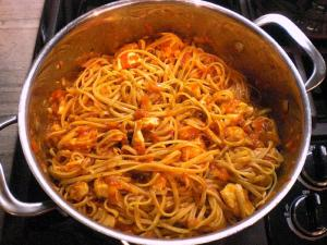Bell pepper pasta with chicken