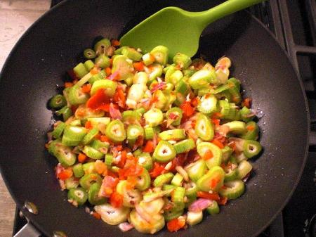 fennel stalk and onion saute